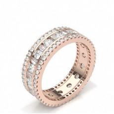 Rose Gull Full Diamant Evighetsringer
