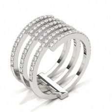 Bague de fiançailles designer diamant rond serti griffes
