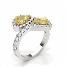 Pear Statement Diamond Rings