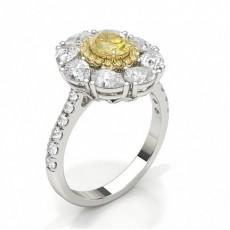 Oval Bagues en diamant jaune
