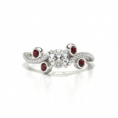 Designer Vintage Round Ruby Fashion Ring