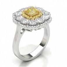 Brillante Anelli di fidanzamento con diamante giallo