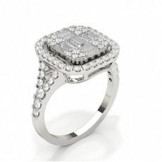 Bague diamant serti pavé
