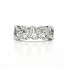 Platina Hverdags Diamantringer