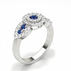 Round Gemstone Engagement Rings
