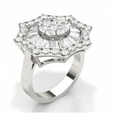 Bague sertie de diamants sertis de griffes