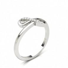 Klo Innfatning Rund Diamant Promise Ring