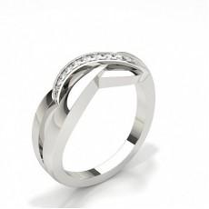 Pavé Innfatning Rund Diamant Promise Ring
