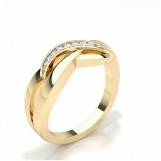 Gult Gull Hverdags Diamantringer