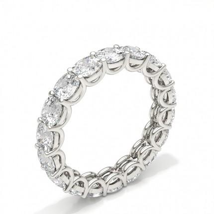 Anello Con Diamante Eternity Con Montatura A 4 Griffe
