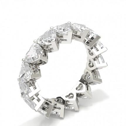 Anillo De Diamantes De Eternidad Completo Con Montura De Clavijas
