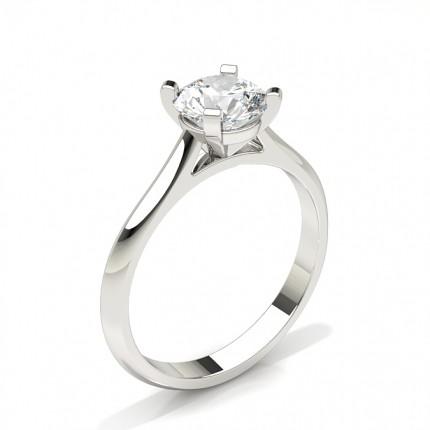 Anillo De Compromiso De Diamantes Con Montura De Clavijas