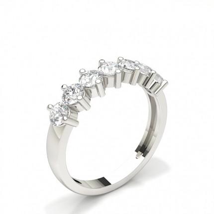 Bague en diamant demi-éternité sertie de 2 griffes