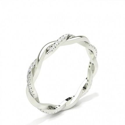 Eternity Diamant Ring in einer Pavefassung