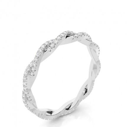 Anillo De Diamantes De Eternidad Completo Con Montura Pavé