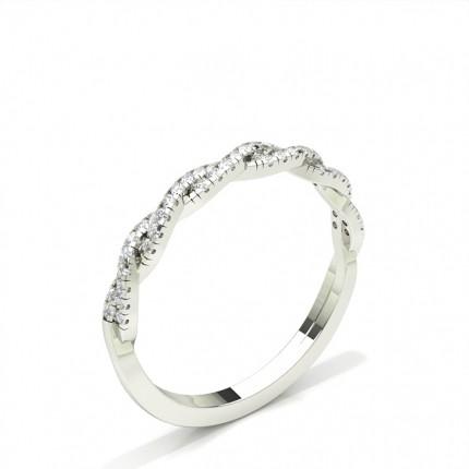 Klofattad Halvallians Briljant Diamantring