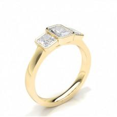 Lünetteneinstellung Radiant Trilogy Diamond Verlobungsring