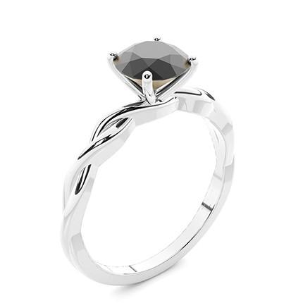 Anello Del Diamante Nero Di Fidanzamento