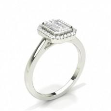 Emerald Halo Diamond Engagement Rings