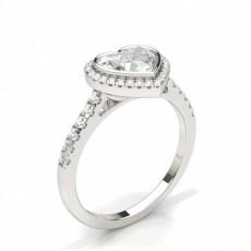 Heart Engagement Rings