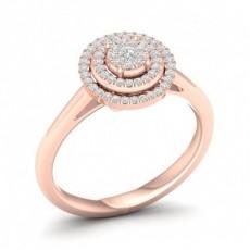 Oro rosa Anelli di fidanzamento Cluster