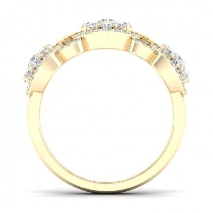 Micro Rund Diamant Sidestensringindfatning