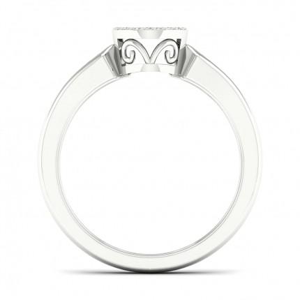 Anello Con Diamanti A Grappolo Rotondi Con Incastonatura Pavé