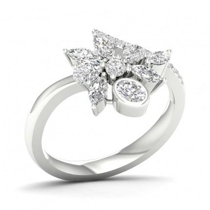 Bague fantaisie diamant poire serti griffes