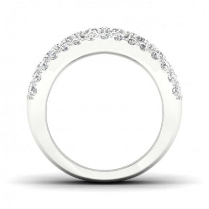 Micro PavéIndfatning Rund Diamant Fashion Ring