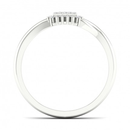 Anillo De Racimo De Diamantes Redondos Con Engaste De Micro Clavijas