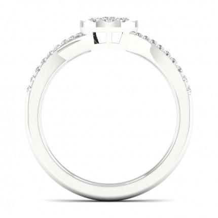 Micro PavéIndfatning Rund Diamant Sidestensring