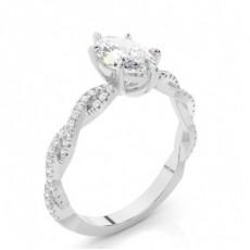 Marquise Side Stone Diamond Rings