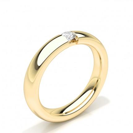 Alliance Solitaire Diamant Clouté Femme