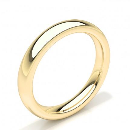 Behagelig Passform Avrundet Profil Glatt Mann Bryllup Bånd