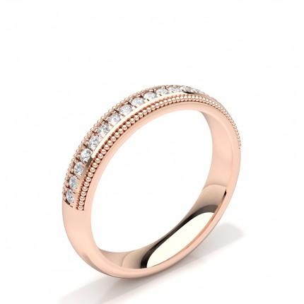 Diamant Besat Milgrain Design Dame Vielsesring