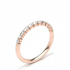 BRILLANTE Alianzas de Boda de Diamantes para Mujer