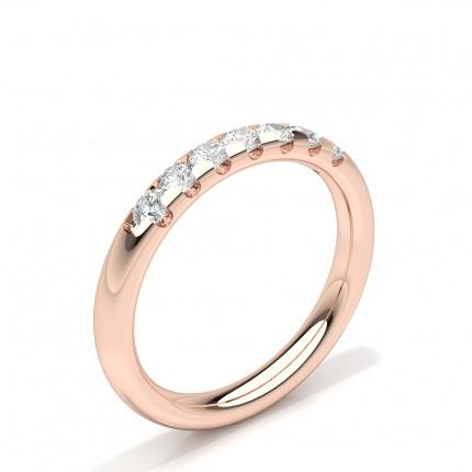 Prong Set Diamond Comfirt Fit Seven Stone Womens Wedding Ring