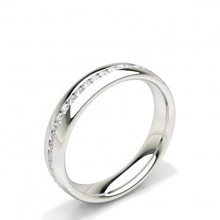 Channel Set Diamond Comfort Fit Womens Wedding Ring
