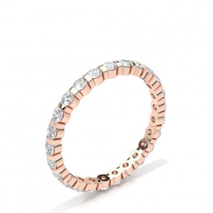 Kanal Einstellung Runde Diamant Damen Ehering