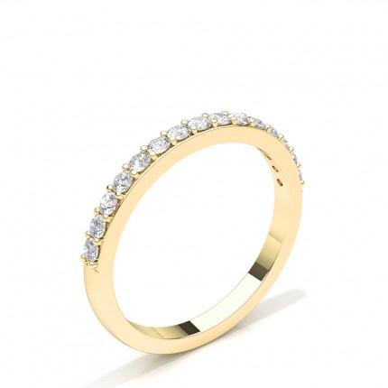 Anillo De Boda Para Mujer Redonda Con Tachuelas De Diamantes