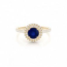 Yellow Gold Gemstone Engagement Rings