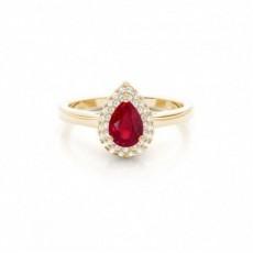 Oro giallo Anelli di fidanzamento con rubino