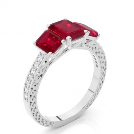 Prong Setting Ruby Vintage Ring