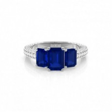 Prong Setting Blue Sapphire Vintage Ring
