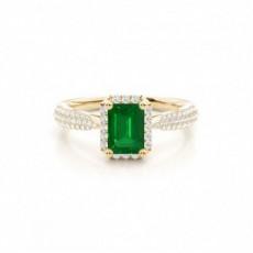 Oro giallo Anelli di fidanzamento con smeraldo
