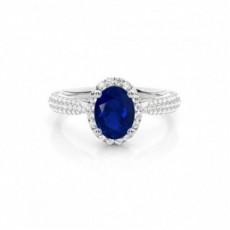 Platinum Sapphire Engagement Rings