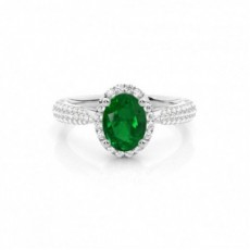 Oval Smaragd Ringer