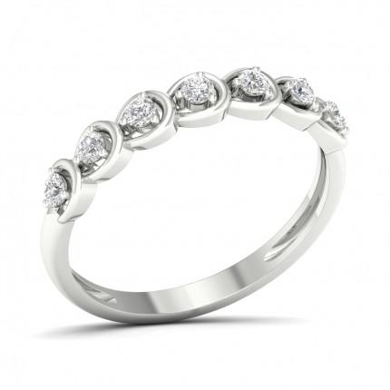 Pavéfattning Briljant Diamant Halvalliansring