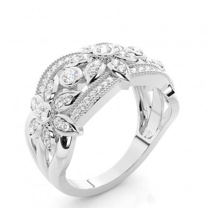 Bezel Setting Round Diamond Fashion Ring