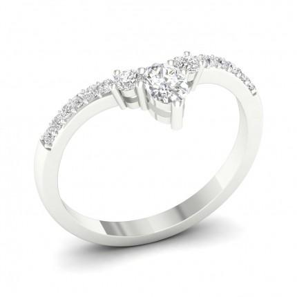 2,20 Mm Fede Nuziale A Forma Di Diamante Rotondo Dalla Vestibilità Leggera